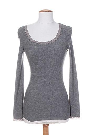 rivieres de lune t-shirts femme de couleur gris