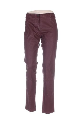 rivieres de lune pantalons femme de couleur rouge
