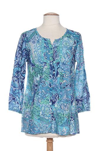 agathe EFFI_CHAR_1 louise chemises femme de couleur bleu