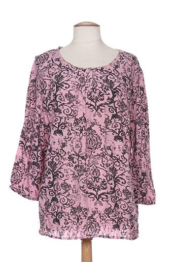 brandtex chemises femme de couleur rose