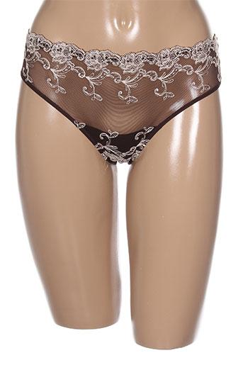 ambra lingerie femme de couleur marron