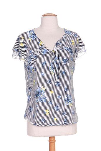 moka's chemises femme de couleur bleu