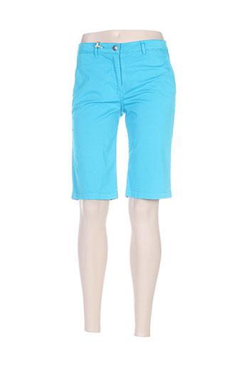 rivieres de lune shorts / bermudas femme de couleur bleu