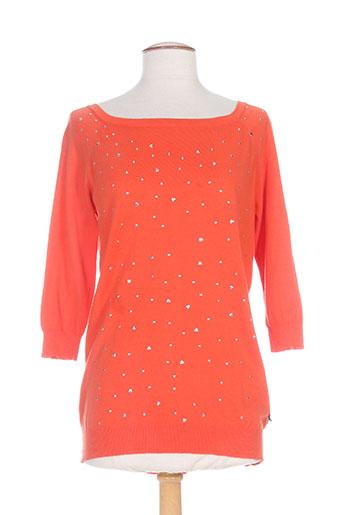 rivieres de lune pulls femme de couleur orange