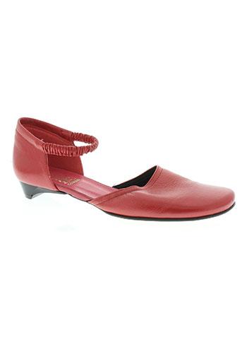 corine chaussures femme de couleur rouge