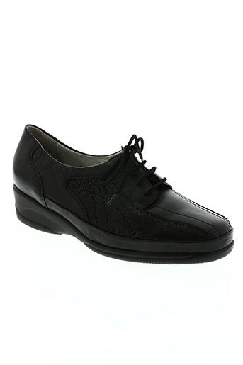 waldläufer chaussures femme de couleur noir