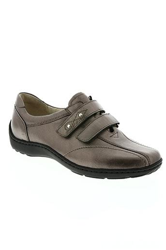 waldläufer chaussures femme de couleur marron