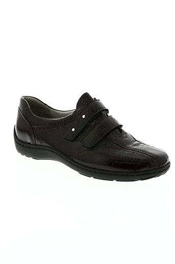 waldläufer chaussures femme de couleur rouge