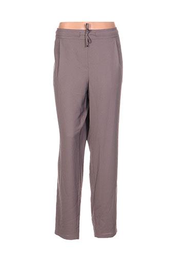 lebek pantalons femme de couleur marron