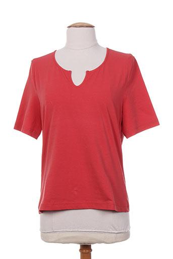 frank eden t-shirts femme de couleur orange