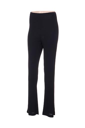 sergio ferrazzi pantalons femme de couleur noir