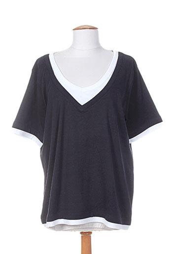 cassis t-shirts femme de couleur bleu