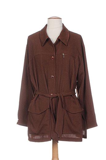 carole richard vestes femme de couleur marron