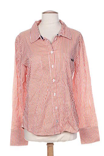 ichi chemises femme de couleur orange