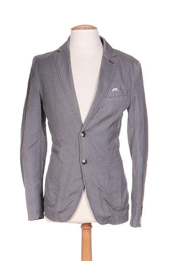 benetton vestes homme de couleur gris