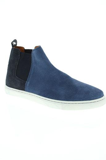 benetton chaussures homme de couleur bleu