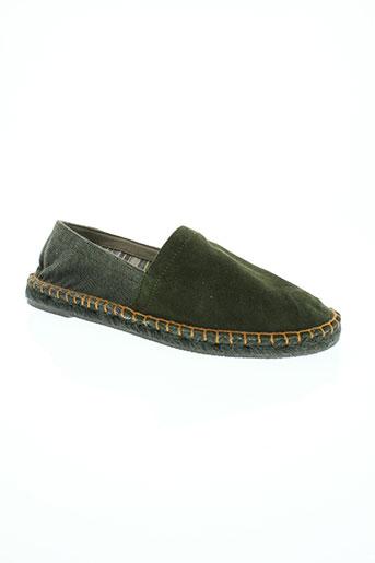 benetton chaussures homme de couleur vert