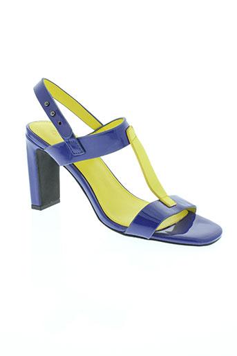 benetton chaussures femme de couleur bleu