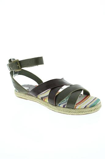 benetton chaussures femme de couleur vert