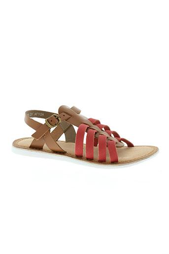 kickers chaussures fille de couleur rouge