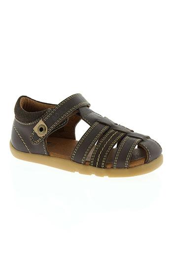 bobux chaussures garçon de couleur marron