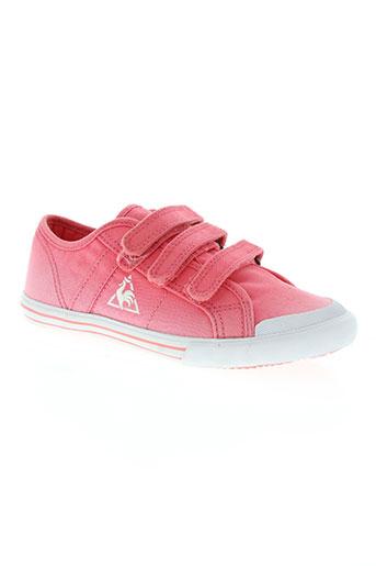 le coq sportif chaussures fille de couleur rose
