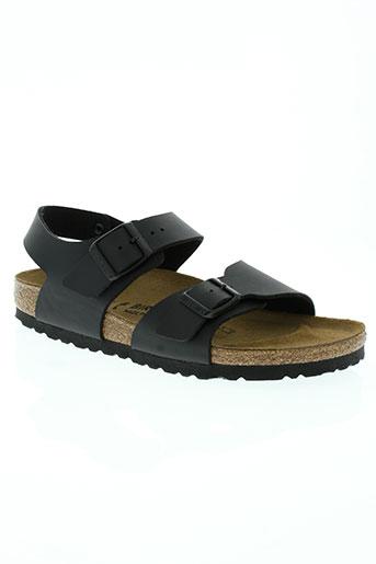 birkenstock chaussures garçon de couleur noir