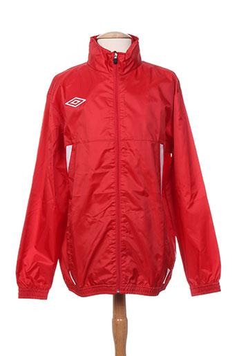 umbro manteaux homme de couleur rouge