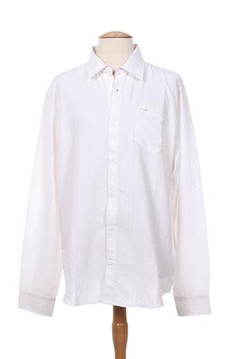 sun valley chemises homme de couleur blanc