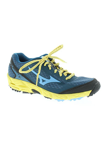 mizuno chaussures femme de couleur bleu