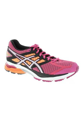 asics chaussures femme de couleur rose