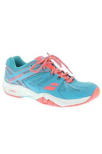 babolat chaussures femme de couleur bleu c8cf95d3df78