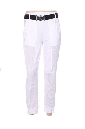 mc planet by innate pantalons femme de couleur blanc