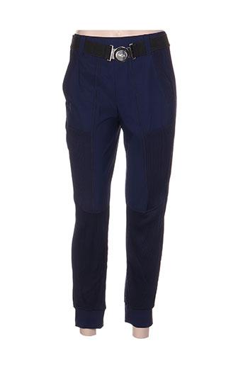 mc planet by innate pantalons femme de couleur bleu