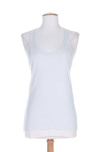 divertimento t-shirts femme de couleur bleu