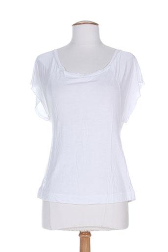 T-shirt manches courtes blanc DIVERTIMENTO pour femme