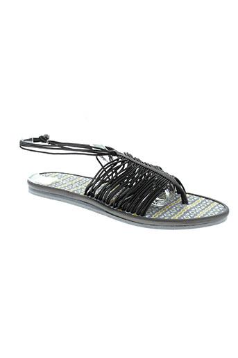 string tong chaussures femme de couleur gris