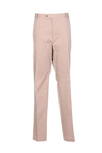 nino loretti pantalons homme de couleur beige