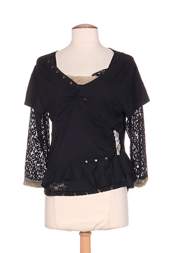 instants voles chemises femme de couleur noir