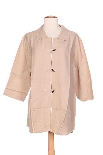 Veste casual beige CANNA MELLIS pour femme