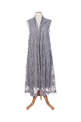 cream vestes femme de couleur gris