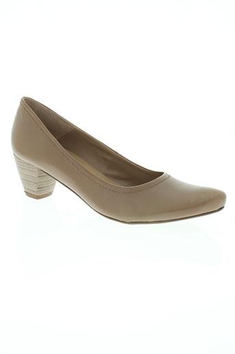 connivence chaussures femme de couleur beige