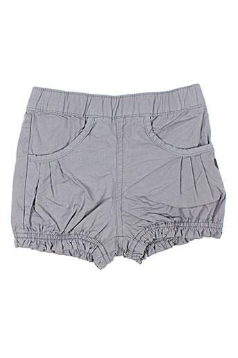 3 pommes shorts / bermudas fille de couleur gris