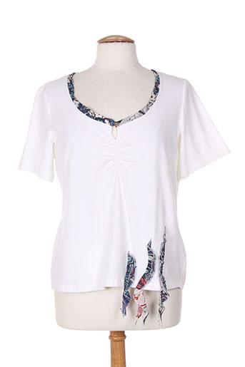 bleu de sym t-shirts femme de couleur blanc