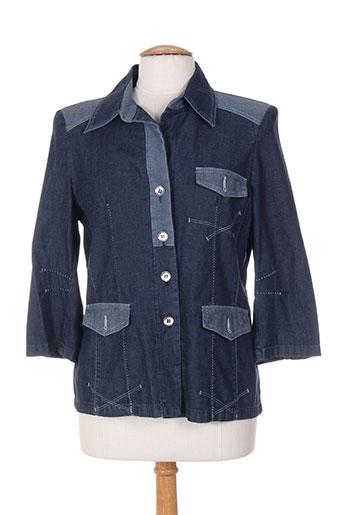 Veste casual bleu BLEU DE SYM pour femme