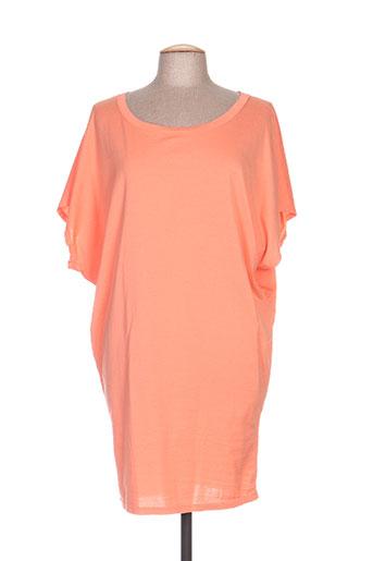 Tunique manches courtes orange DROLATIC pour femme