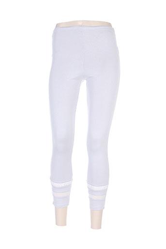 double jeu pantalons femme de couleur gris