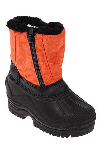 snow legend chaussures fille de couleur orange