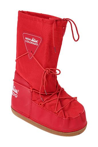 high colorado chaussures homme de couleur rouge