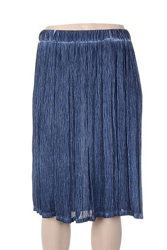 Jupe mi-longue bleu ET SI.... pour femme